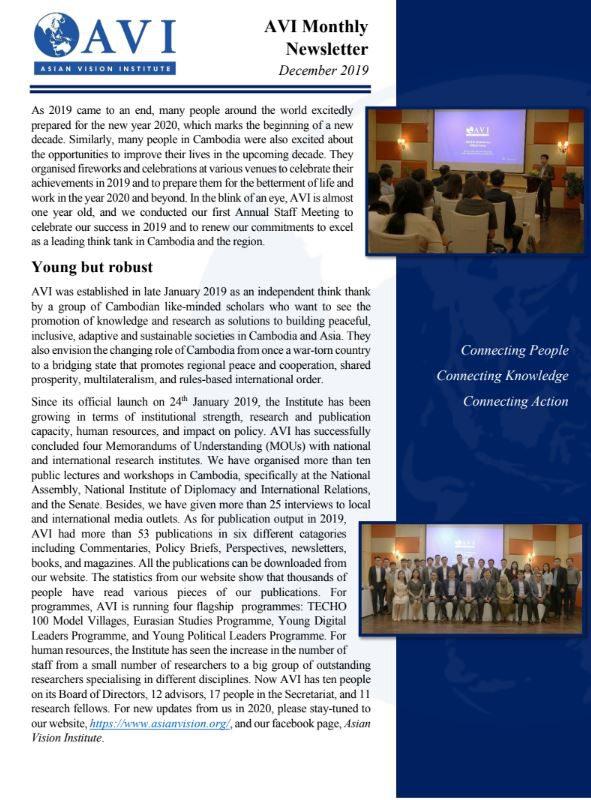 AVI Monthly Newsletter December 2019