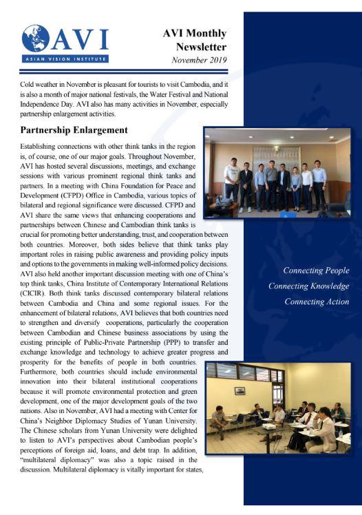 AVI Monthly Newsletter November 2019