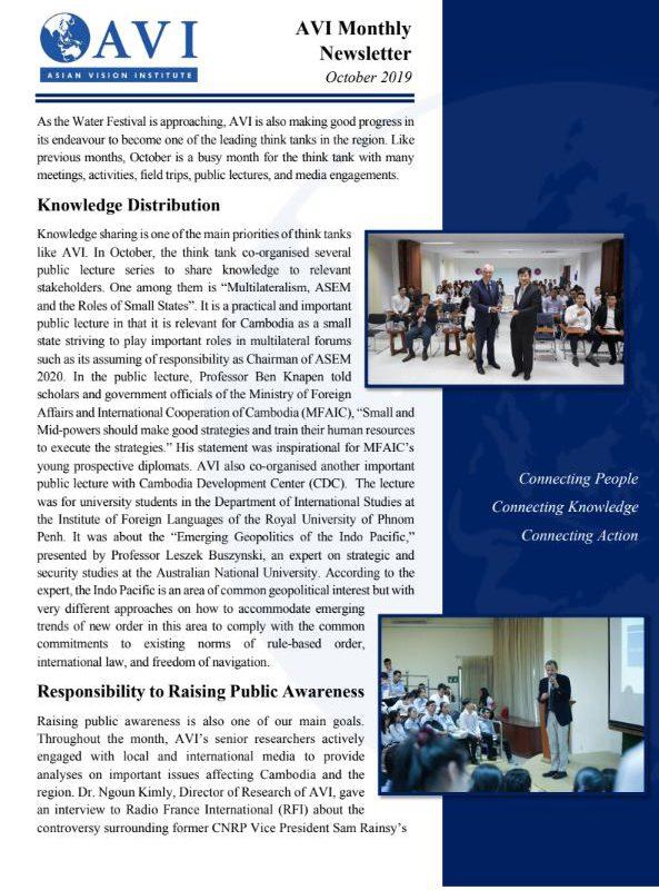 AVI Monthly Newsletter October 2019
